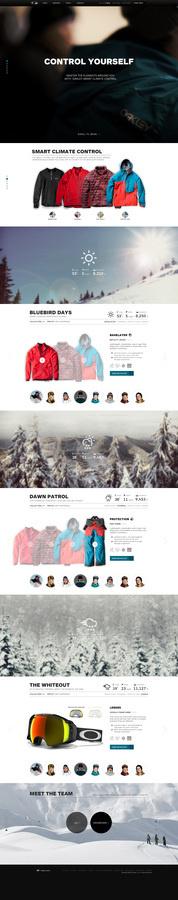 Oakley Pro Rider Series #flat #minimal #parallax #minisite #web #typography