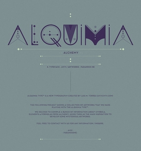 ALQUIMIA TYPE on the Behance Network