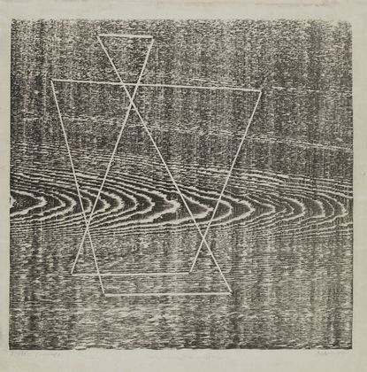 MoMA   The Collection   Josef Albers. Tlaloc. 1944 #woodcut #tlaloc #albers #joseph #moma