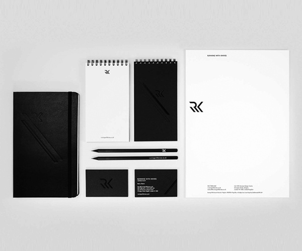 Running with knives on Branding Served #white #branding #black #simple #brand #system #identity #minimal #and