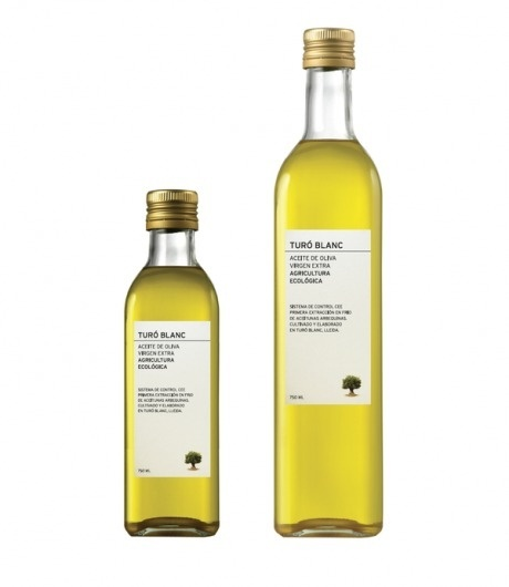 """PATI NUÃ'EZ WORKSHOP, TURÃ"""" BLANC OLIVE OIL LABEL DESIGN on the Behance Network #packaging #labeling #olive #oil"""