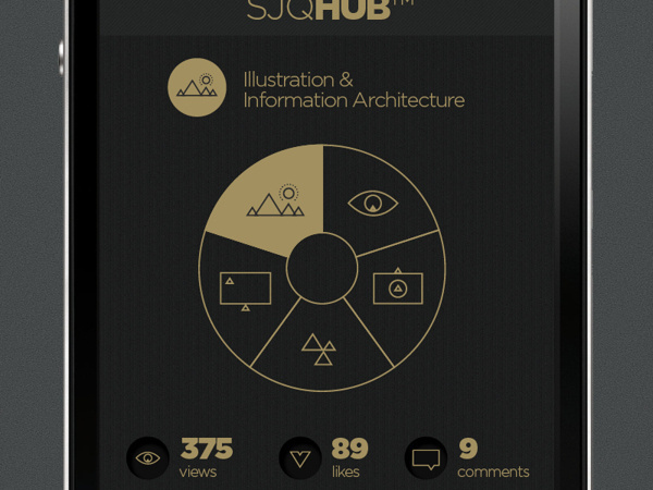 SJQHUB™ Visual Data on Behance #texture #ui #iphone #app #data #visualization