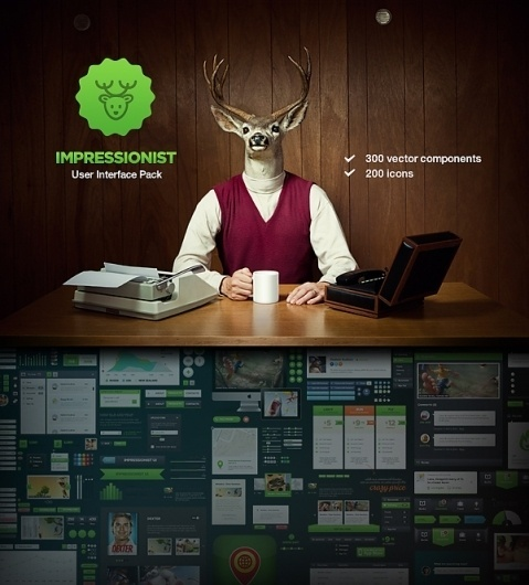Impressionist User Interface Pack on the Behance Network #user #deer #interface