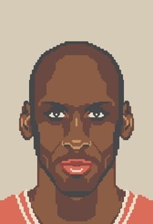 NBA Off-Season #jordan #pixel #illustration #art #basketball #michael