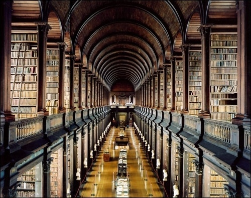 The Daily Revolution • Library of Trinity College #libraries #interiors #college #trinity #architecture