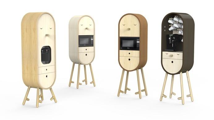Lo-Lo The Capsular Microkitchen by Aotta Studio - www.homeworlddesign. com (1) #office #kitchen #design #furniture