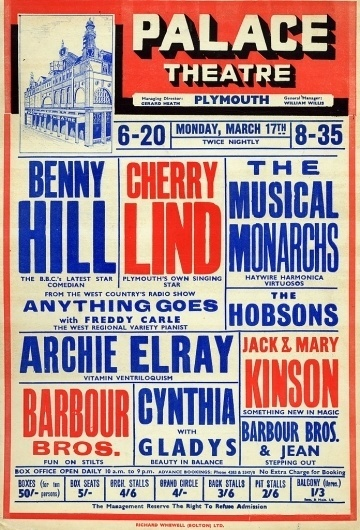 Palace Theatre playbill featuring Benny Hill | Flickr - Photo Sharing! #2 #colour #poster #theatre