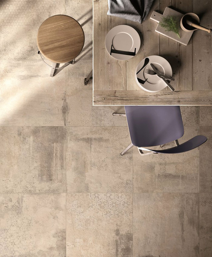 Floor Tiles Inspired by the Surfaces of the Recent Past - #floor, flooring, #tiles, #walls