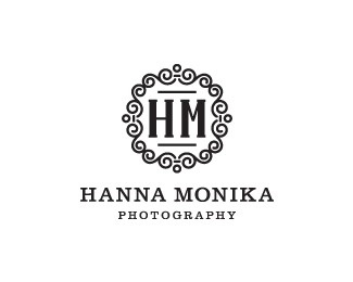 Hanna Monika by contactme #design #logo #serif #black and white #ornament