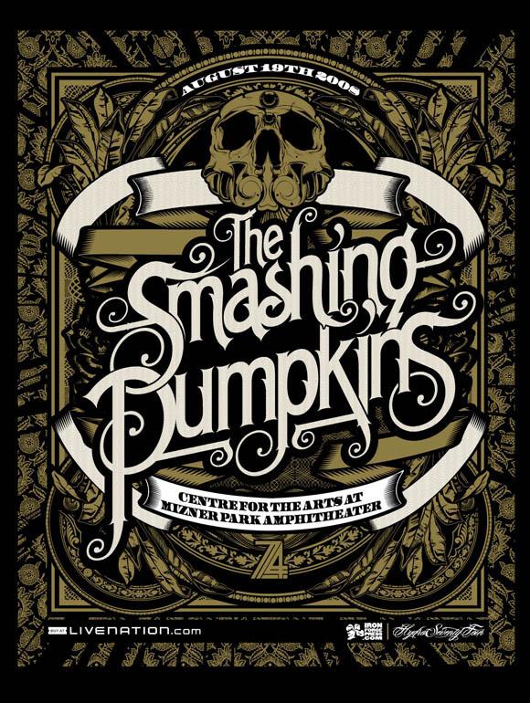 Portfolio Hydro74   MCMLXXIV #smashing #illustration #hydro #poster #music #74 #pumpkins #typography