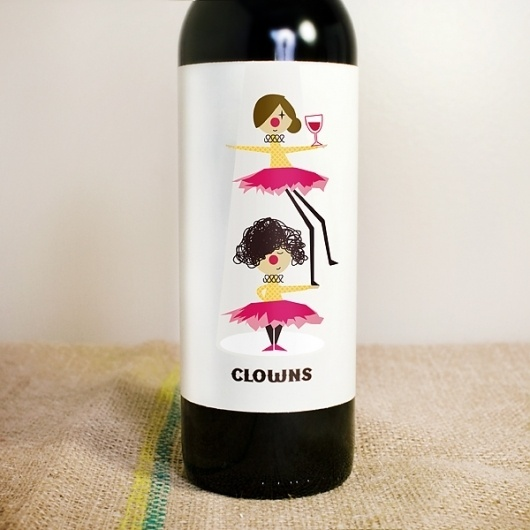 Vancouver Graphic Designer and Photographer #clowns #illustration #wine