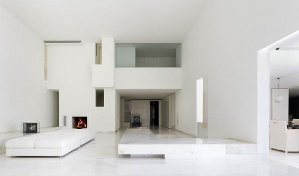 Tecas 43 residence white living area #interior #architecture #residence #futuristic