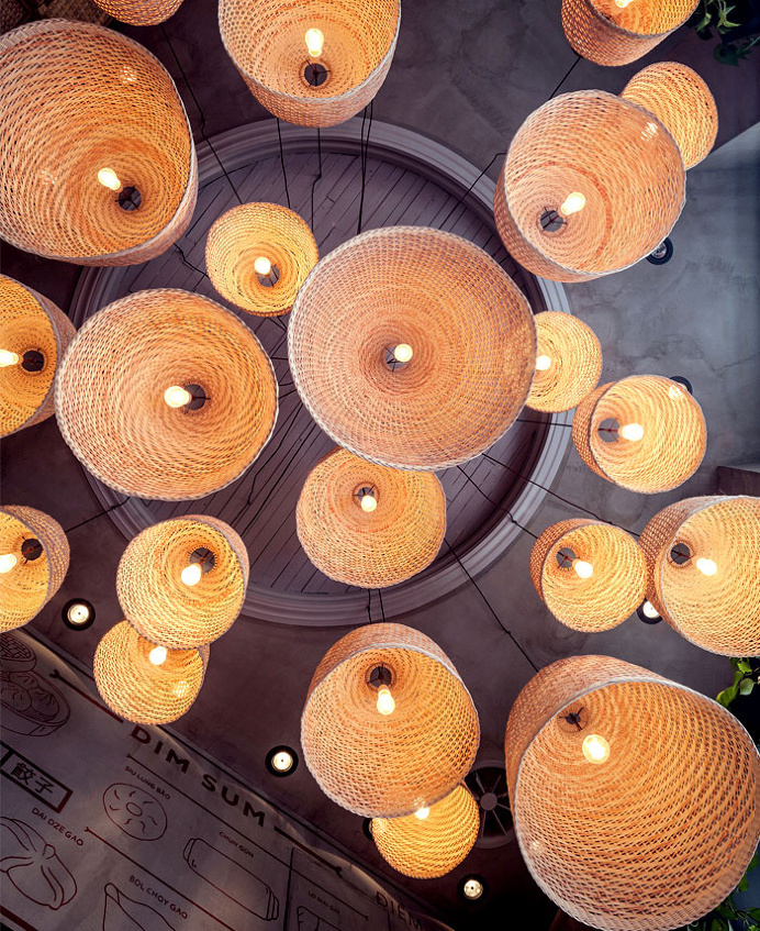 Baobao Asian Restaurant Decor - #restaurant, #decor, #interior, #lamps, #lights