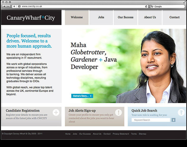 Canary Wharf and City website by Ascend Studio #design #website #corporate #professional #recruitment