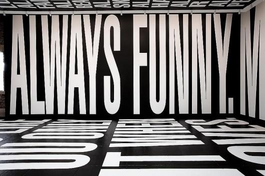 L & M Arts - Barbara Kruger #exhibition #type #interior #typography
