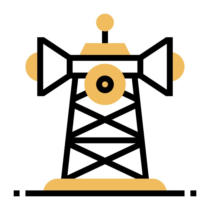 See more icon inspiration related to radar, tower, communication tower, ui, network signal, frequency, telecommunication, telecommunications, communications, signal and technology on Flaticon.