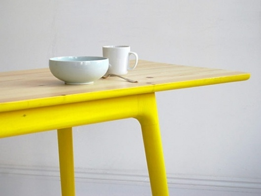 "PLASTOLUX ""keep it modern"" » Mathias Hahn - product design #interior #diy #yellow #table"
