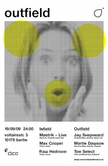 Outfield - Berlin on the Behance Network #dots #event #music