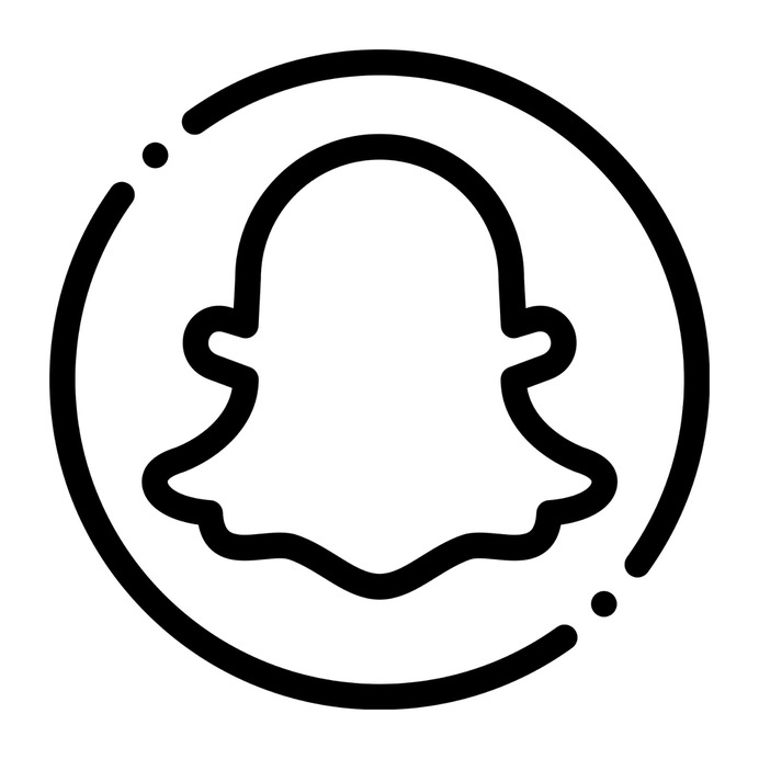 See more icon inspiration related to snapchat, brands and logotypes, logos, logotype, logo, social network and social media on Flaticon.