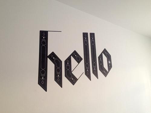 hello #lettering #typography