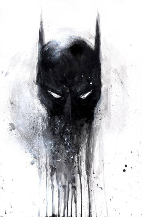 art, #Heroes #Bruce Wayne #DC #Comics #Mask #Cowl #Art #Paint