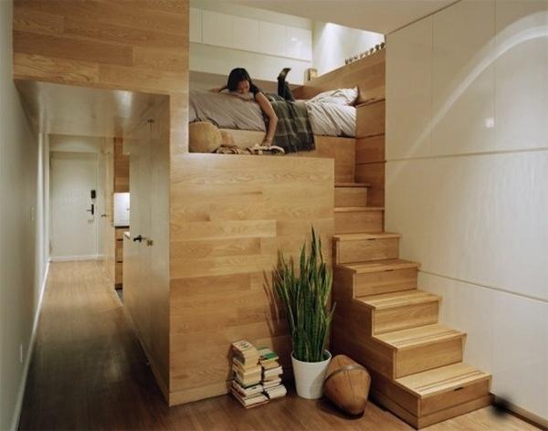 15 Unique Tiny Studio Apartment Design Ideas (8) #interior #loft #design #bedroom #wood #architecture #style #plant