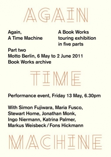 manystuff.org — Graphic Design daily selection #machine #again #design #graphic #time #poster