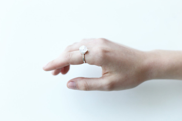 Sterling Silver Ring || PARALLEL PULSE #crystal #silver #pulse #design #jewelry #sterling #parallel #ring