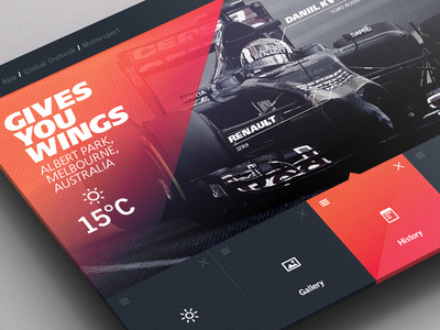 Weather Dashboard // F1 #pattern #weather #infographic #space #clean #app #photoshop #gradient
