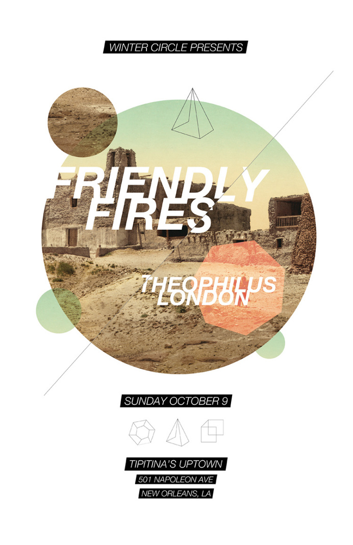 Friendly Fires & Theophilus London #concertposter #poster #concert #show #friendlyfires #theophiluslondon