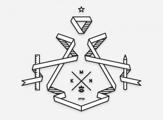 mkn design - Michael Nÿkamp #crown #banner #ruler #est #eye #star #logo #pencil #mkn #09