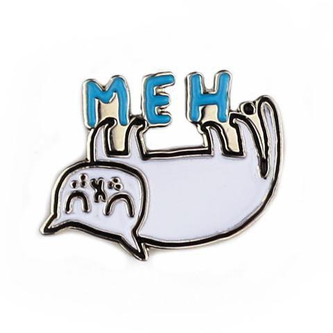 Meh Cat Enamel Pin