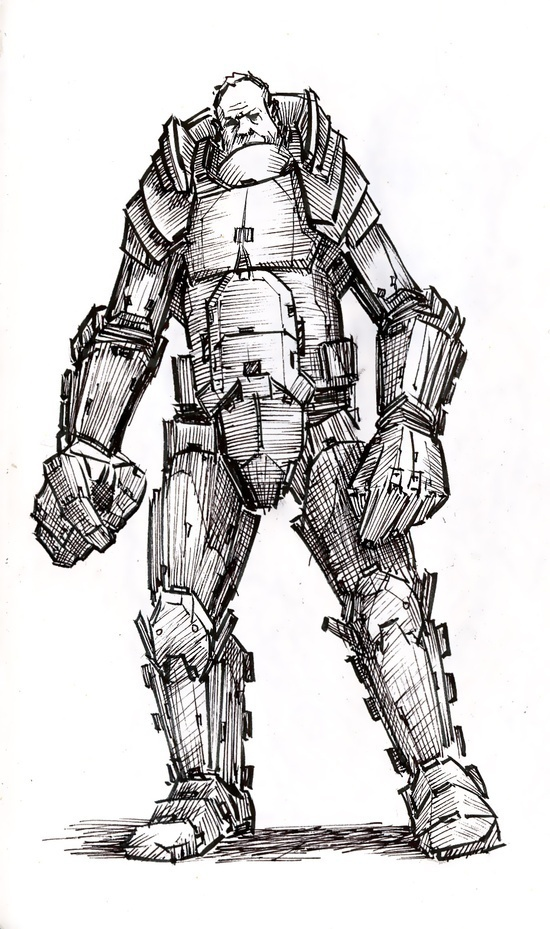 Suit Up - Joseph Sanabria #fantasy #illustration #magic #suit #character #sketch