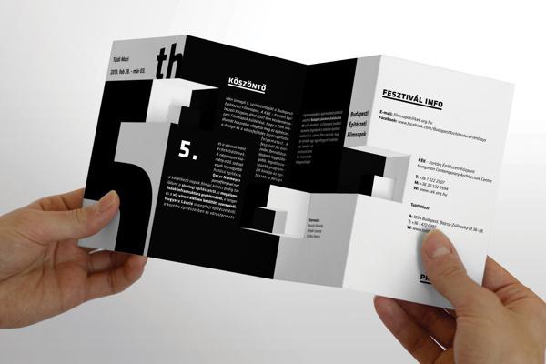 5. Budapest Architecture Film Festival Brochure on Behance #fff