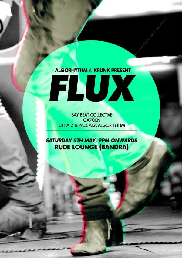 Flux Gig #flux #gig #retro #indie #poster #music