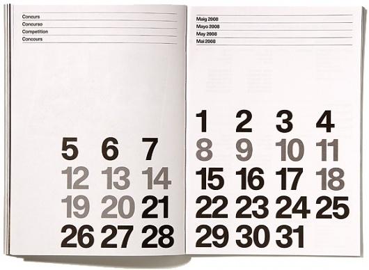 Dropular #swiss #calendar #grid #poster #helvetica