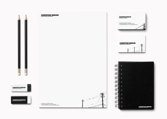 Corporate Design | Cohezion #stationary #design #black-white #corporate #business_card #logo #letterhead