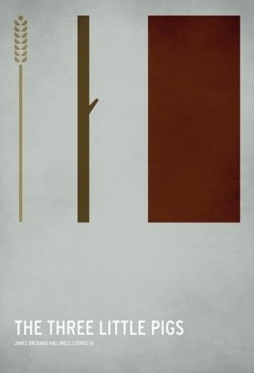 The Curious Brain » Christian Jackson #design #fairytale #graphic #little #pigs #poster #three #minimalist
