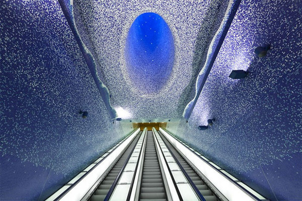 CJWHO ™ (Toledo Metro Station by Oscar Tusquets...) #water #design #interiors #photography #architecture #art #napoli #metro #toledo #light #italy #station
