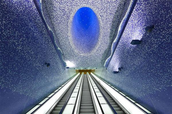 CJWHO ™ (Toledo Metro Station by Oscar Tusquets...) #water #design #interiors #photography #architecture #art #napoli #metro #toledo #light #italy #station