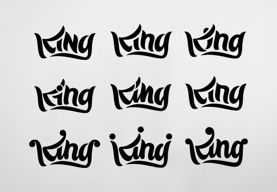 King Rob Clarke Typography #clarke #rob #lettering #script #icon #logo #king #typography