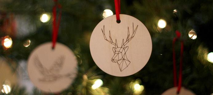 Kaldor   Kaldor Christmas 2014 #deer #cut #design #laser #ornaments #christmas #illustration #plywood #decoration