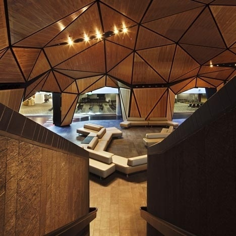 Dezeen » Blog Archive » Inside award winner: Wellington International Airport by Warren & Mahoney and Studio Pacific #warrenmahoney #cellular #wood #architecture #airport #biological