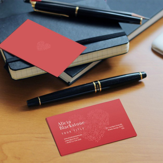 Red business card Free Psd. See more inspiration related to Logo, Business card, Mockup, Business, Abstract, Card, Template, Office, Visiting card, Presentation, Stationery, Corporate, Mock up, Company, Modern, Branding, Visit card, Identity, Brand and Mockup template on Freepik.