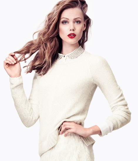 Frida Gustavsson for H&M Winter Collection #model #girl #photography #fashion #beauty