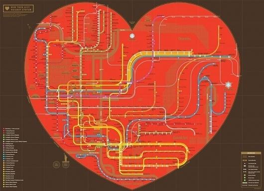 ZEROPERZERO #heart #nyc #map #subway