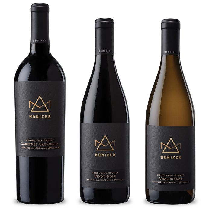 Moniker Family Estates ~ Wine Label Design ~ Packaging ~ Auston Design Group #WineLabel #packaging