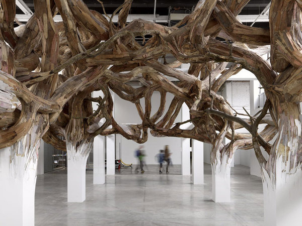 henrique oliveira baitogogo designboom 04 #wood #sculpture