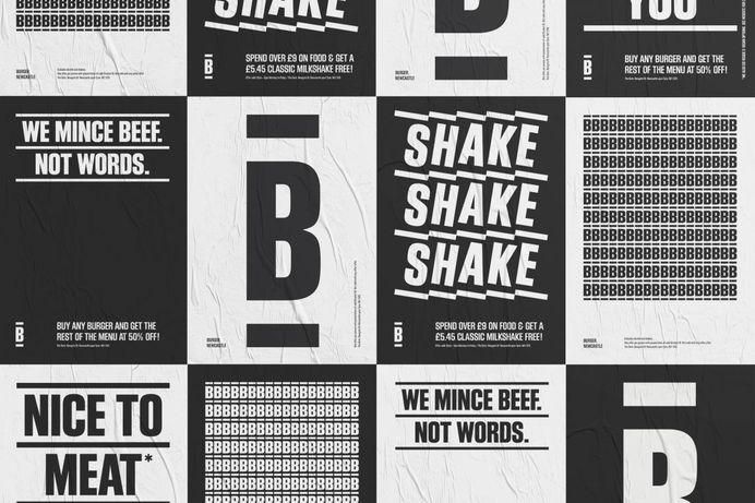 Freytag Anderson's bold, confident and minimalist identity for a no-nonsense BURGER | Creative Boom
