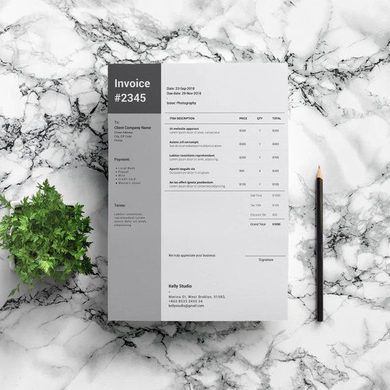 Word Invoice Template | Clean Invoice | Stylish Invoice | Simple Invoice | Invoice Instant Download | Easy Invoice Template | Freelancer